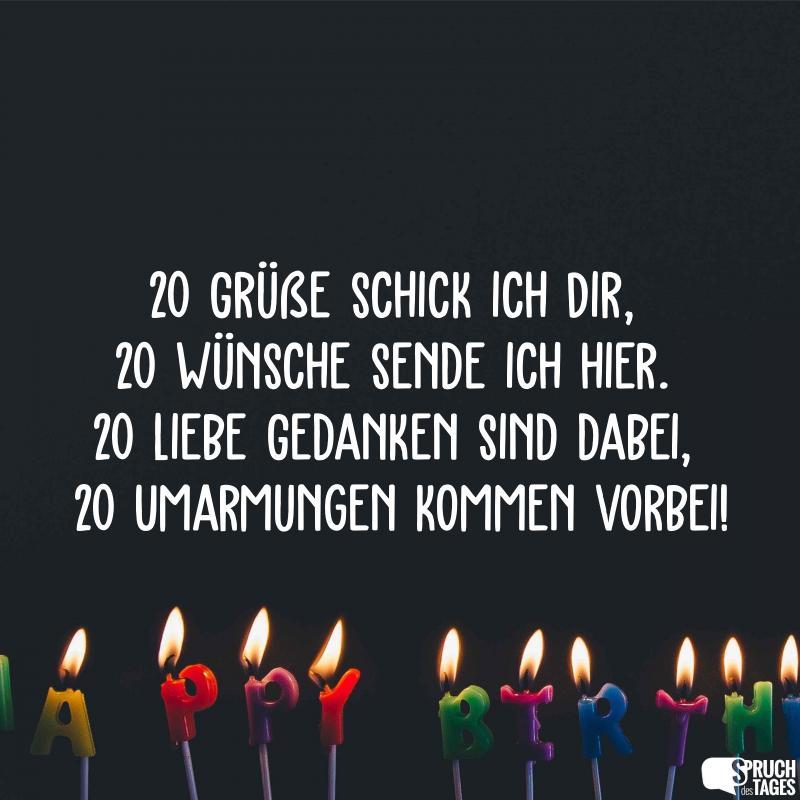 Geburtstagswunsche 20 jahre witzig
