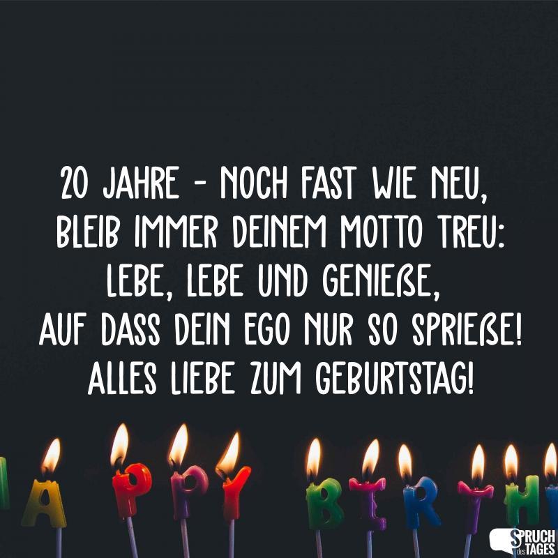 Geburtstagsspruch Zum 20 Geburtstag Lustig