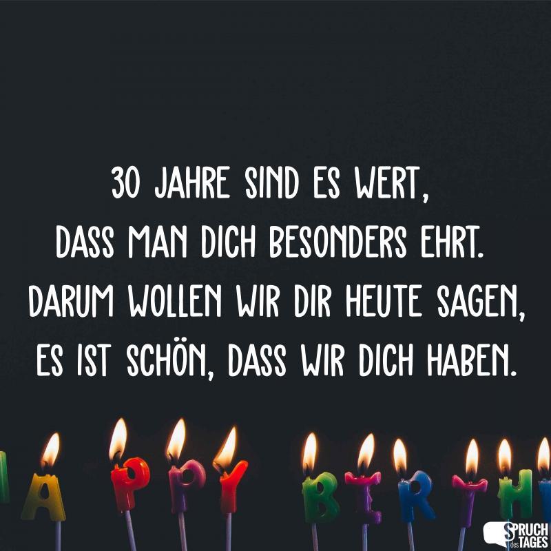 L 30 Geburtstag Spruche Die Beliebtesten 30 Geburtstagsspruche
