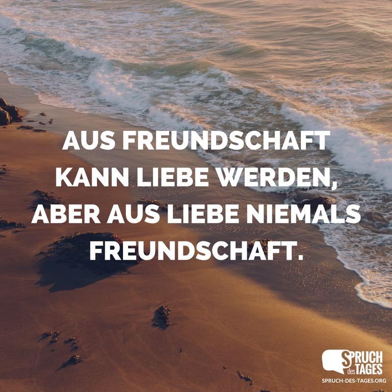 wenn aus freundschaft liebe wird sprüche Aus Freundschaft kann Liebe werden, aber aus Liebe niemals  wenn aus freundschaft liebe wird sprüche