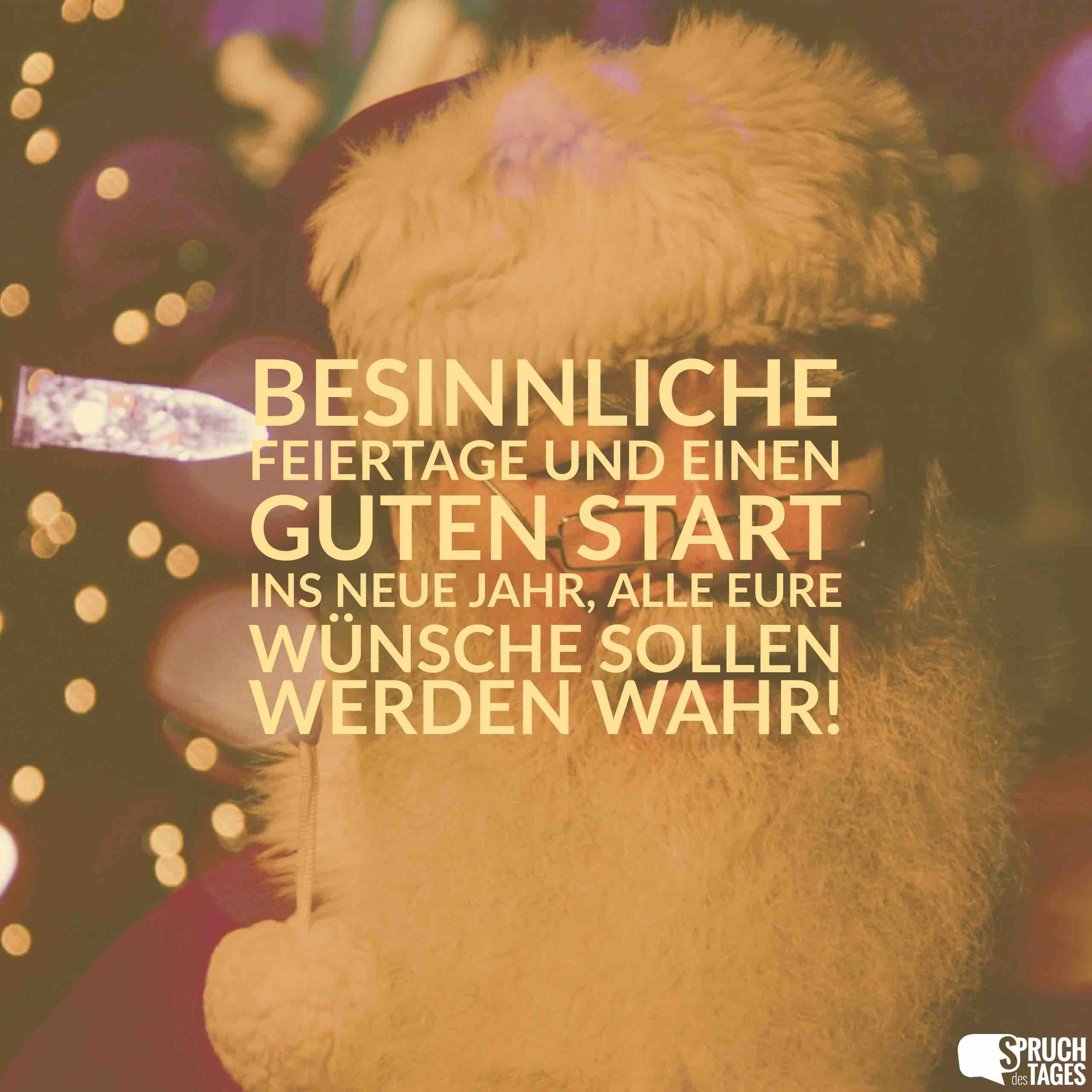 Besinnliche Feiertage und einen guten Start ins neue Jahr, alle Eure ...
