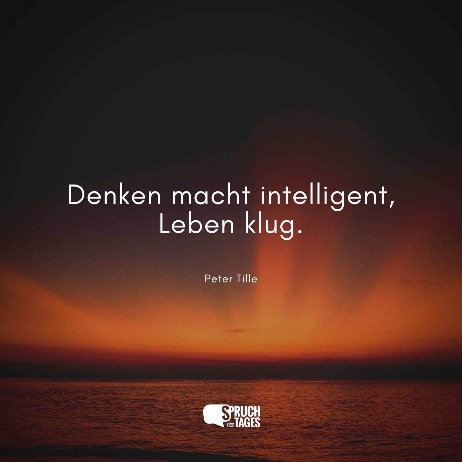 Denken Macht Intelligent Leben Klug