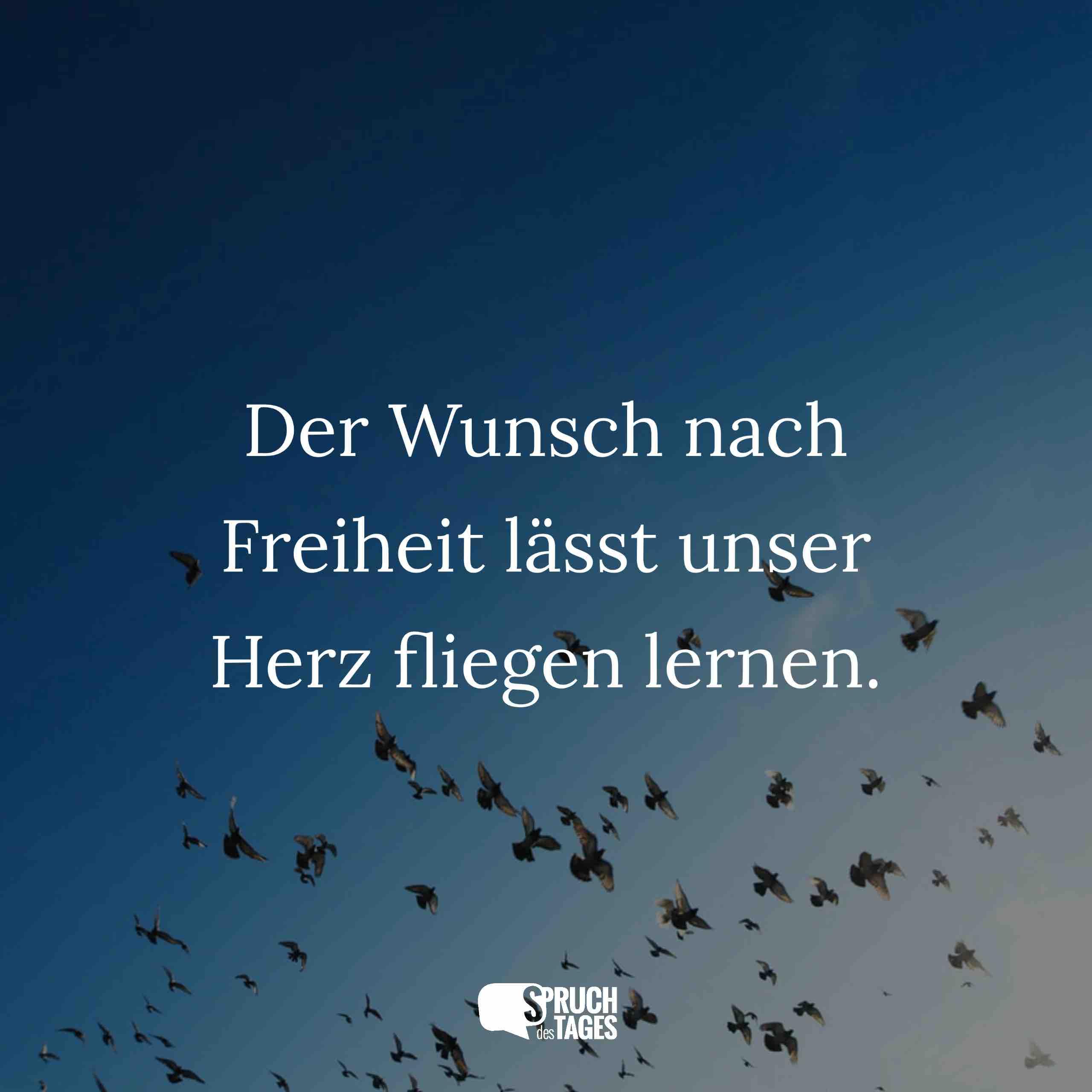 Der Wunsch Nach Freiheit Lässt Unser Herz Fliegen Lernen.