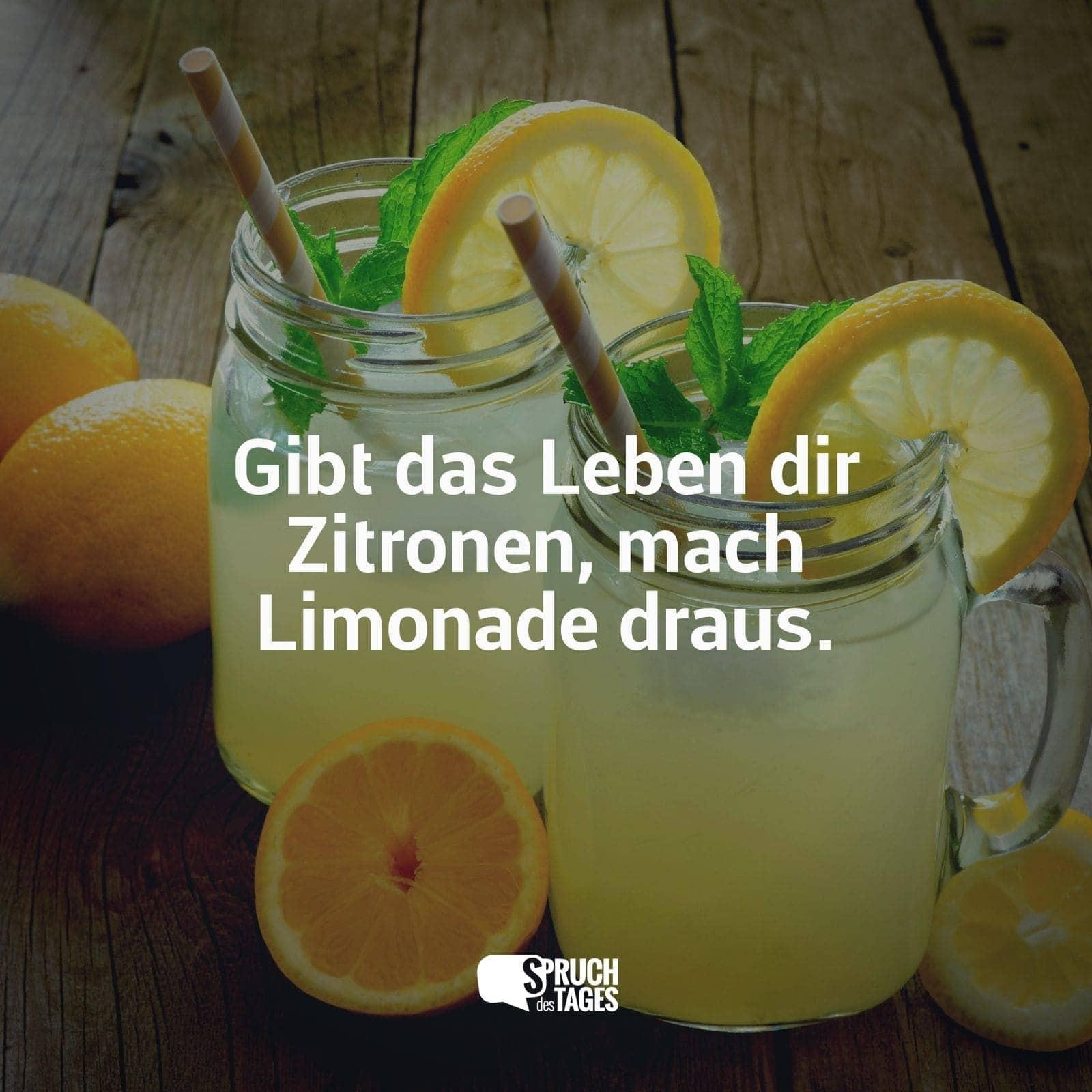gibt dir das leben eine zitrone sprüche Gibt das Leben dir Zitronen, mach Limonade draus. gibt dir das leben eine zitrone sprüche