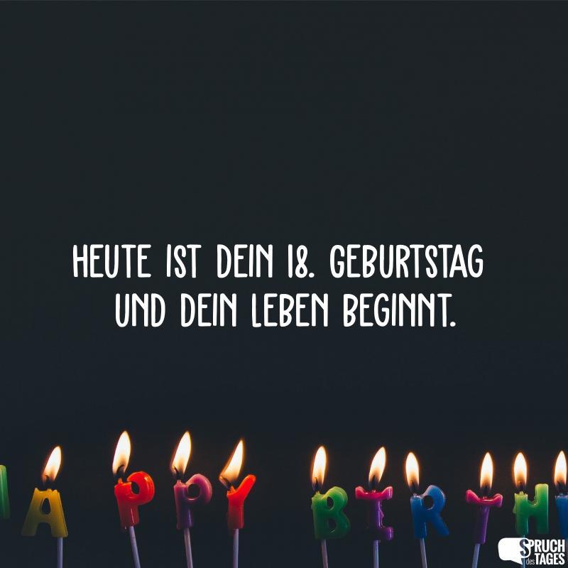 Spruche Zum 18 Geburtstag