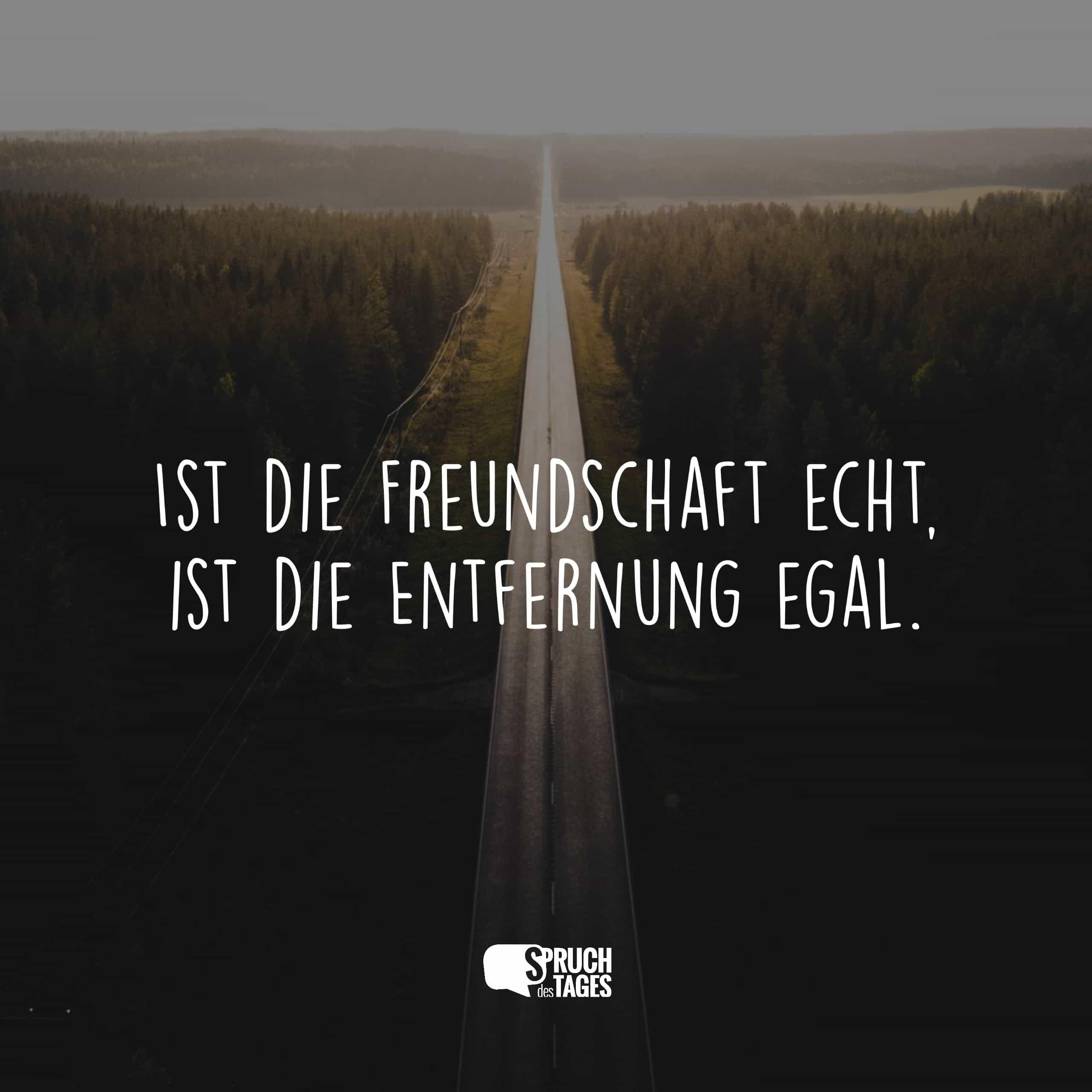 Über und sprüche distanz freundschaft Freundschaft Zitate