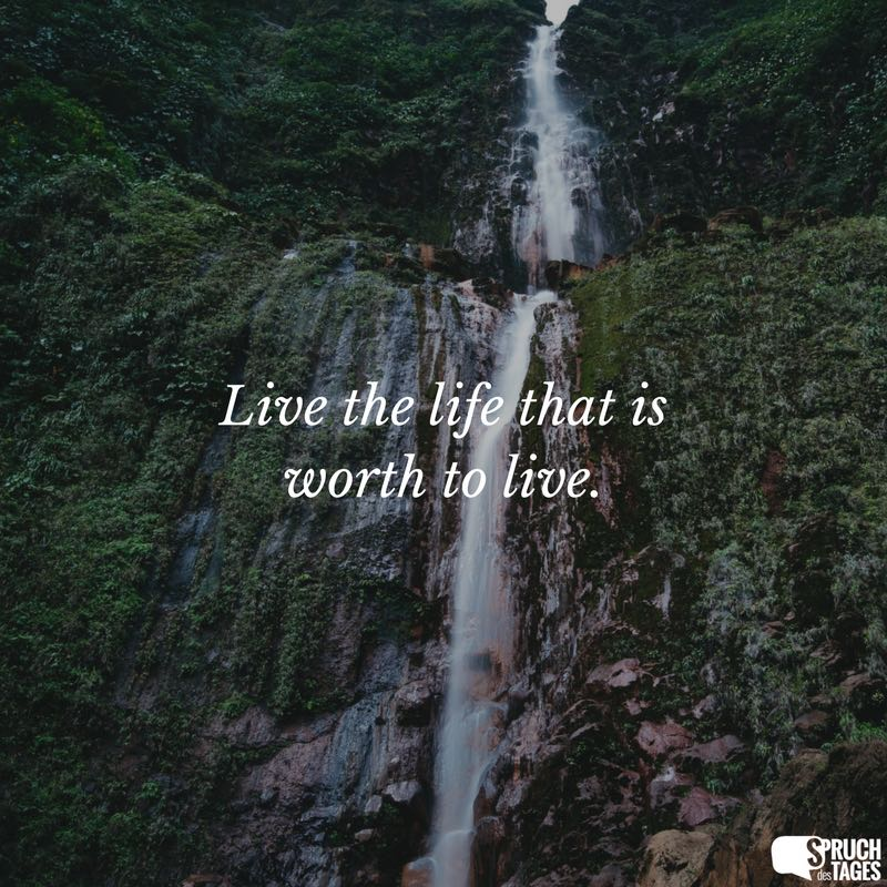 live your life sprüche englisch Live the life that is worth to live. live your life sprüche englisch
