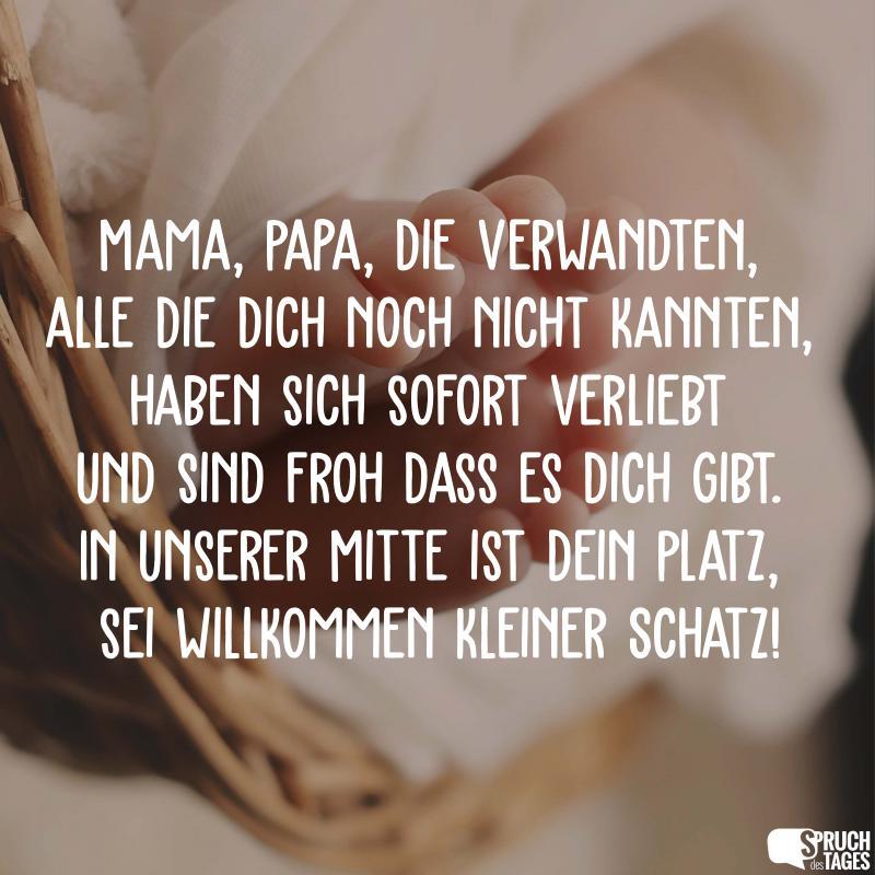 Mama Papa Die Verwandten Alle Die Dich Noch Nicht Kannten